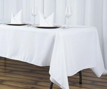 Oval Table Linen White 60