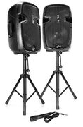 1800 Watts Dual Portable PA/Music Speakers with Bluetooth/Mic