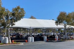 Custom Commercial Tent with accessories