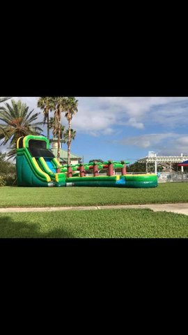 20' Tropical Green Slide w/ extension