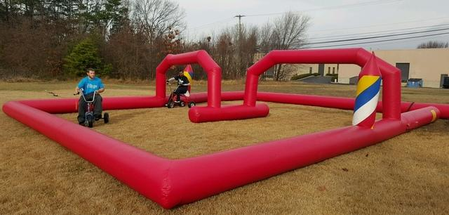Wacky Trikes with Inflatable Race Track