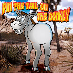 Pin The Tail On Donkey Game