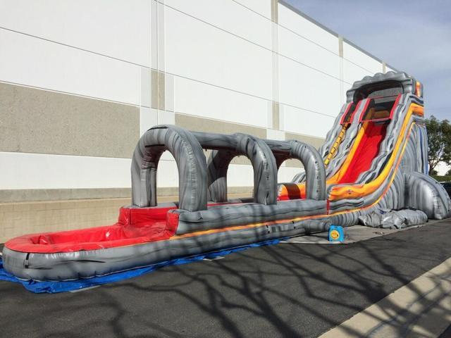 (002) 24 Feet Tall Lava Falls Water slide with Slip-N-Dip