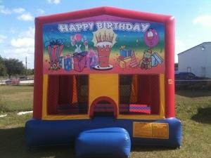 13x13 Rainbow Birthday Bounce House