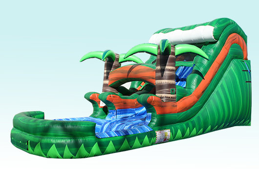 (020) 14 Feet Tall Rain Forest Water Slide