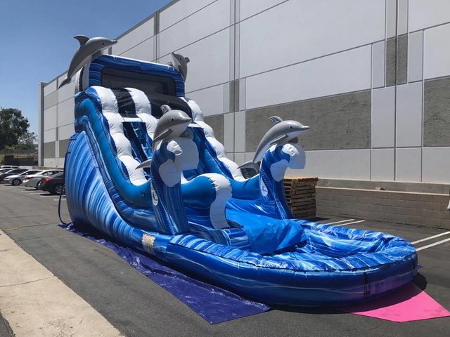 (014) 17 Feet Tall Ocean Wave Waterslide