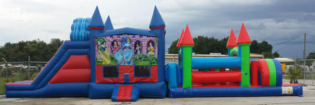 52 Foot Disney Princess Wacky Obstacle