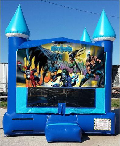 13x13 Batman Blue Ice Bounce House