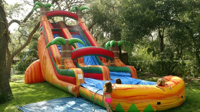 (003) 24 Foot Orange Crush Waterslide