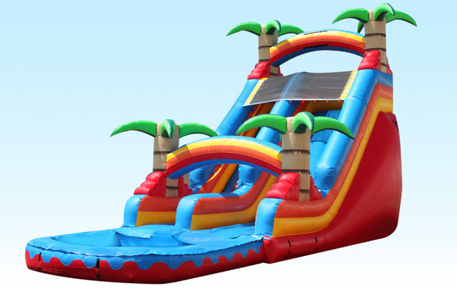 (011) 19 Feet Tall Paradise Water Slide