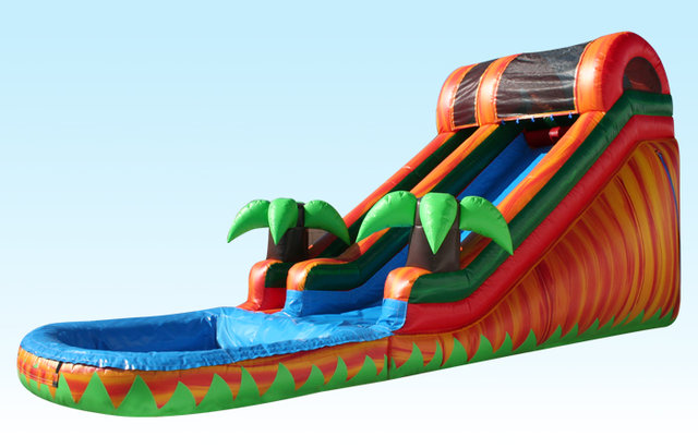 (019) 15 Feet Tall Riptide Water Slide