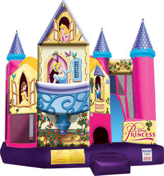 (03) 3D Disney Princess Bounce And Slide Combo