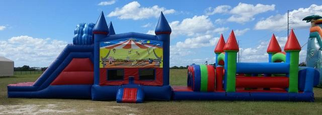 52 Foot Wacky Circus Obstacle Course