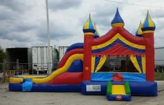 5 in 1 Big Top Circus Wet Combo Bounce And Slide