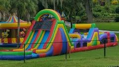 (16) 75 Foot Long Rockin Obstacle Course