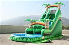 22 Feet Tall Tropical Splash Water Slide