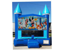 13x13 Blue Ice Mickey Fun Shop Moonwalk