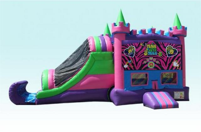 (11) Peace, Love and Music Wet Party Palace Inflatable