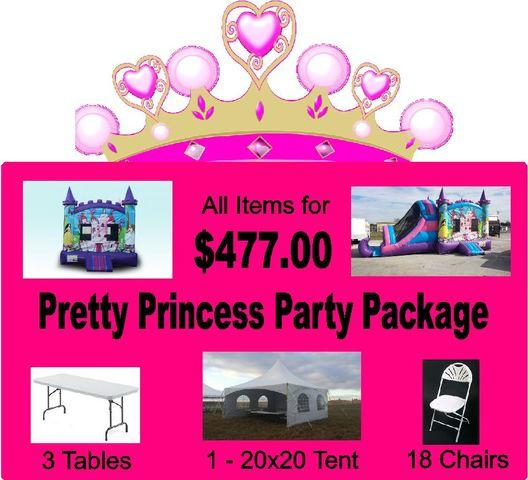 (5) Pretty Princess Party Package