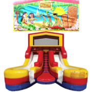 LUAU Double Splash Jr WATER Slide