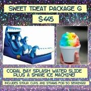 SWEET TREAT PACKAGE G- Shave Ice and Coral Bay Splash!