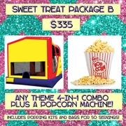 SWEET TREAT PACKAGE B- Popcorn and 4-in-1!