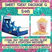 SWEET TREAT PACKAGE G- Popcorn and Coral Bay Splash!