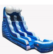15 Foot Water Slide With Splash Bumper (Wet)