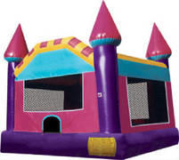 Pink/Purple Castle Bouncy House (Large)