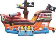 Pirate Ship Jump & Slide with Hoop