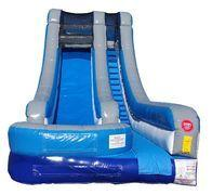 18-ft Blue and Grey Wet/Dry Water Slide