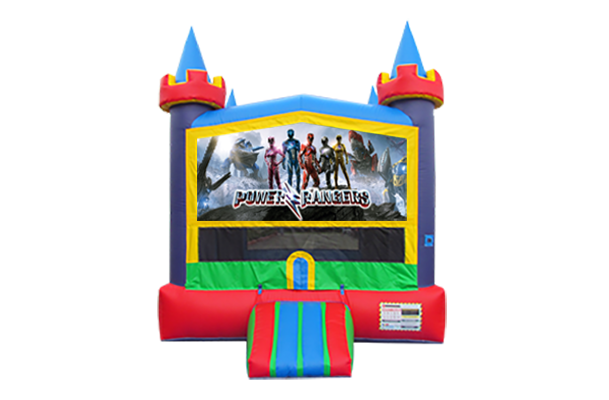 Power Rangers New Lucky Castle Moonwalk w/basketball goal
