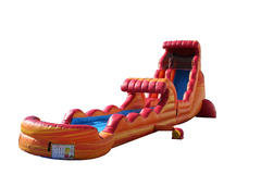 22ft Volcano Rush Water Slide w/Slip & Slide