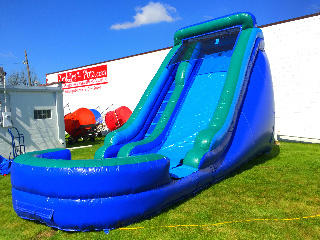 Blue/Green Water Slide