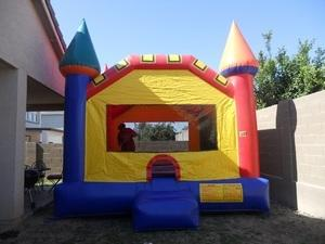 Multi Colored Castle Bounce House Small