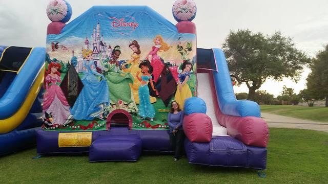 Princess Disney 7 in 1 Slide Bounce House Combo