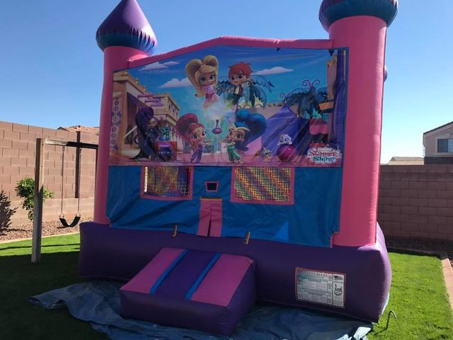 Shimmer Shine Bounce house