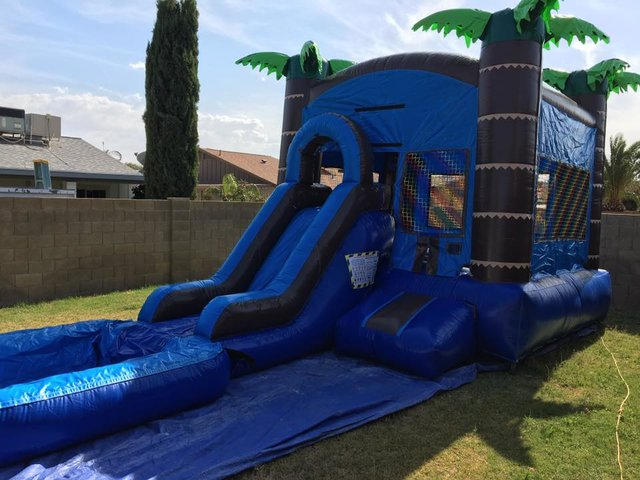 Tropical 3 in 1 Bounce house Slide Combo