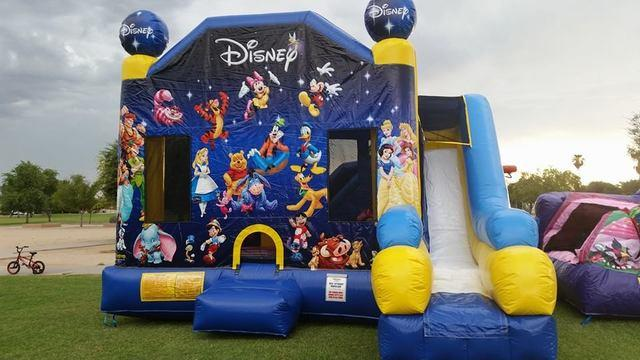 Disney 7 in 1 Slide Bounce House Combo