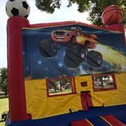 Blaze and Monster Machines Bounce house 13x13