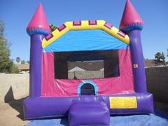 Pink Castle Bounce House Small