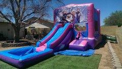 3 in 1 Pink bounce house Slide