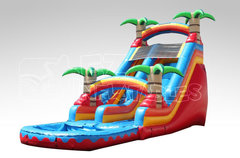 Tropical Fire 19ft Water Slide