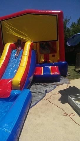 Super Mario Brothers 26ft Bounce House Slide Combo