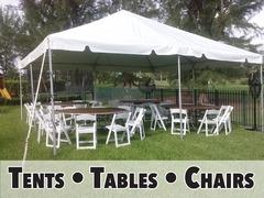 Tents, Tables, and Chairs