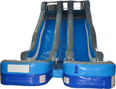 24' Blue Lagoon Dual Lane Dry Slide