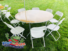 "60""  Round Table &  8 Chairs"