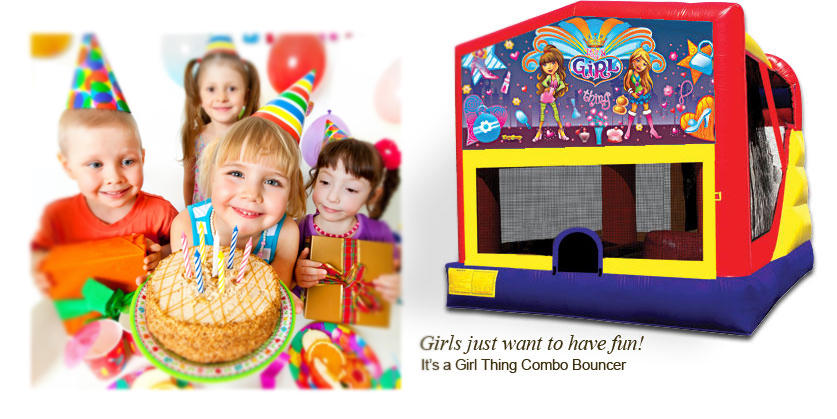 It's a Girl Thing Combo Bounce House Rental