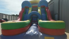 19ft Tall Dual Water Slide w/Pools