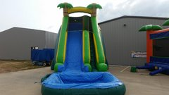 22 Ft Tall Tropical Paradise Water Slide with (Detachable Pool)